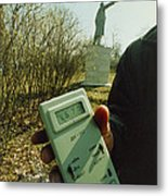 Monitoring Fallout Levels From Chernobyl. Metal Print by Ria Novosti