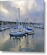 Monterey Harbor Marina - California Metal Print by Brendan Reals