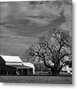 Moon Lit Farm Metal Print by Todd Hostetter