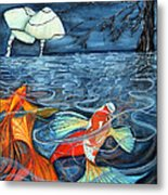 Moonlight Rendezvous Metal Print by Lesley Smitheringale