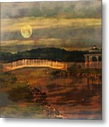 Moonlight Stroll Metal Print by Kathy Jennings