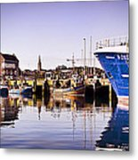 Moored Up Metal Print by Chris Cardwell