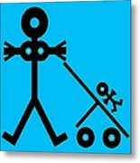 Mother And Baby, Conceptual Artwork Metal Print by Thisisnotme