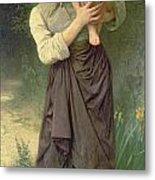 Mother And Child Metal Print by William Adolphe Bouguereau