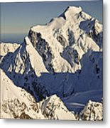 Mount Tutoko At Dawn Hollyford Valley Metal Print by Colin Monteath