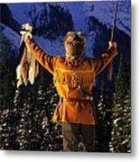 Mountain Man 1 Metal Print by Bob Christopher