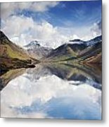 Mountains And Lake, Lake District Metal Print by John Short