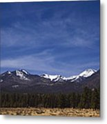 Mountains In The Desert Metal Print by Andrew Soundarajan