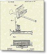 Mouth Organ 1876 Patent Art Metal Print by Prior Art Design