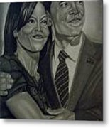Mr. And Mrs. Obama Metal Print by Handy