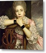 Mrs Abington As Miss Prue In Congreve's 'love For Love'  Metal Print by Sir Joshua Reynolds