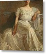 Mrs. Leslie Thayer Green Metal Print by John Willard Clawson