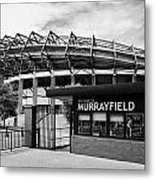 Murrayfield Stadium Edinburgh Scotland Uk United Kingdom Metal Print by Joe Fox