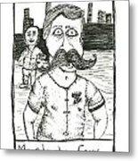 Mustache Envy Metal Print by Michael Mooney