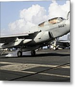 N Ea-6b Prowler Makes An Arrested Metal Print by Stocktrek Images