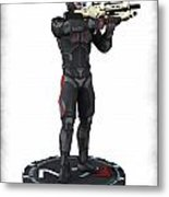 N7 Soldier V1 Metal Print by Frederico Borges
