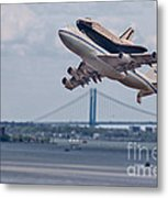 Nasa Enterprise Space Shuttle Metal Print by Susan Candelario