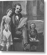 Nathaniel Hawthorne, American Author Metal Print by Photo Researchers