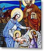 Nativity At Valley Ranch Metal Print by Joan Garcia
