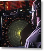 Navy Petty Officer Students Practice Metal Print by Michael Wood