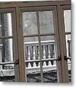 Neighbors Baluster Metal Print by Anna Villarreal Garbis