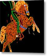 Neon Cowboy Las Vegas Metal Print by Garry Gay