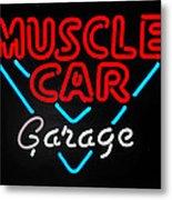 Neon Muscle Metal Print by Steven Milner