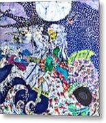 Neptune Rides The Sea Metal Print by Carol Law Conklin