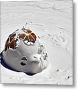 Nesting Mud Bubbles In Yellowstone's Artist Paint Pots Metal Print by Bruce Gourley