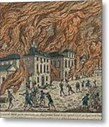 New York City Fire Of September 21-22 Metal Print by Everett