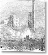 New York: Fire, 1853 Metal Print by Granger