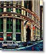 New York Nypd Metal Print by Radu Aldea
