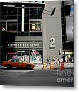 New York Street Metal Print by Alessandro Uggeri