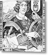 Nicolaus Copernicus, Polish Astronomer Metal Print by Omikron