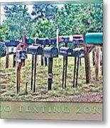 No Texting Zone Metal Print by Stephen Warren
