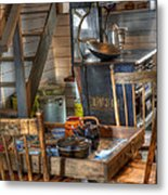 Nostalgia Country Kitchen Metal Print by Bob Christopher