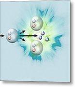 Nuclear Fission Reaction, Artwork Metal Print by Claus Lunau
