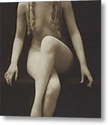 Nude Girl 1915 Metal Print by Stefan Kuhn