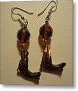 Nude Mermaid Earrings Metal Print by Jenna Green