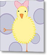Nursery Art Baby Bird Metal Print by Christy Beckwith