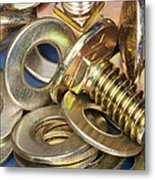 Nuts Bolts And Washers Metal Print by Shannon Fagan