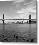 Nyc Manhattan Bridge Metal Print by Mike McGlothlen