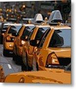 Nyc Traffic Color 16 Metal Print by Scott Kelley