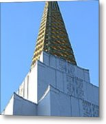 Oakland California Temple . The Church Of Jesus Christ Of Latter-day Saints . 7d11358 Metal Print by Wingsdomain Art and Photography