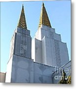 Oakland California Temple . The Church Of Jesus Christ Of Latter-day Saints . 7d11360 Metal Print by Wingsdomain Art and Photography