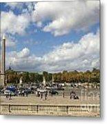 Obelisque Place De La Concorde. Paris. France Metal Print by Bernard Jaubert