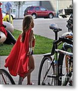 Off To Save The World- Back By Naptime Metal Print by Anjanette Douglas