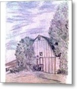 Old Barn Metal Print by De Beall