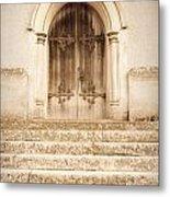 Old Church Door Metal Print by Tom Gowanlock