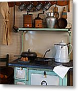 Old Cook Stove Metal Print by Carmen Del Valle